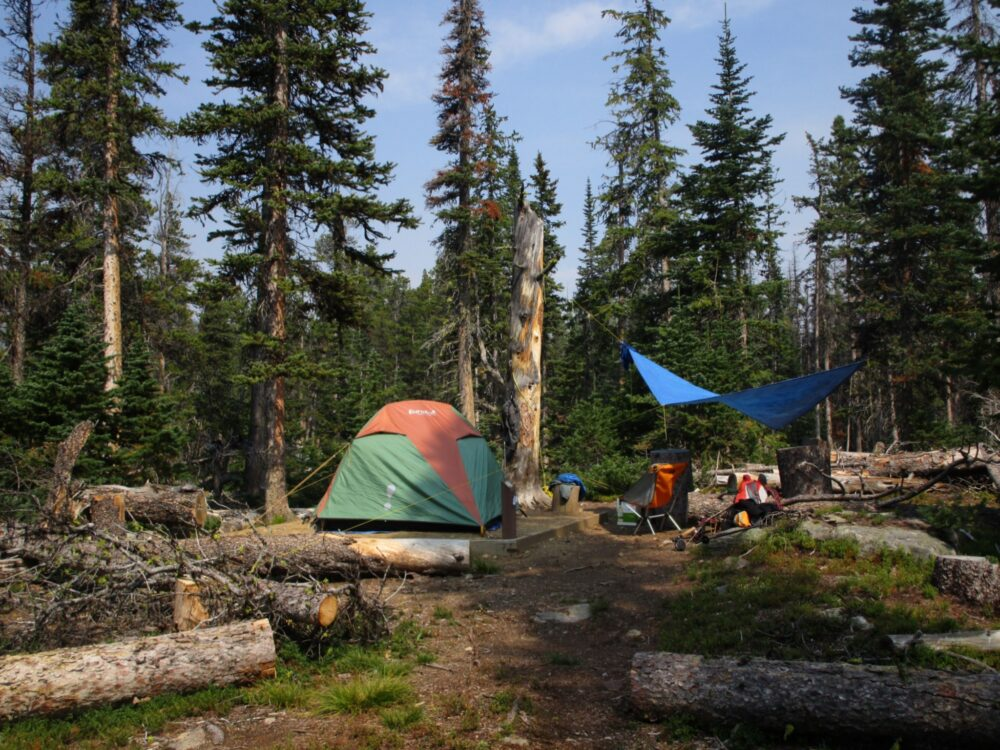Campsite at Cathedral Provincial Park