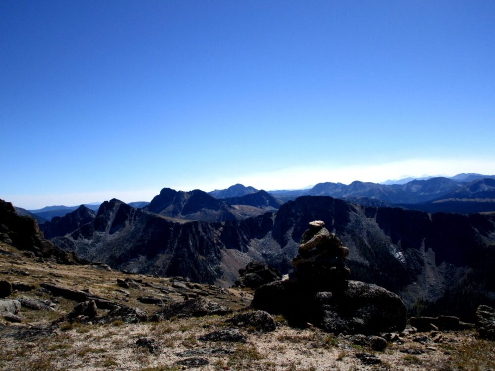 Mountain views on the Rim Trail, Cathedral Provincial Park, BC