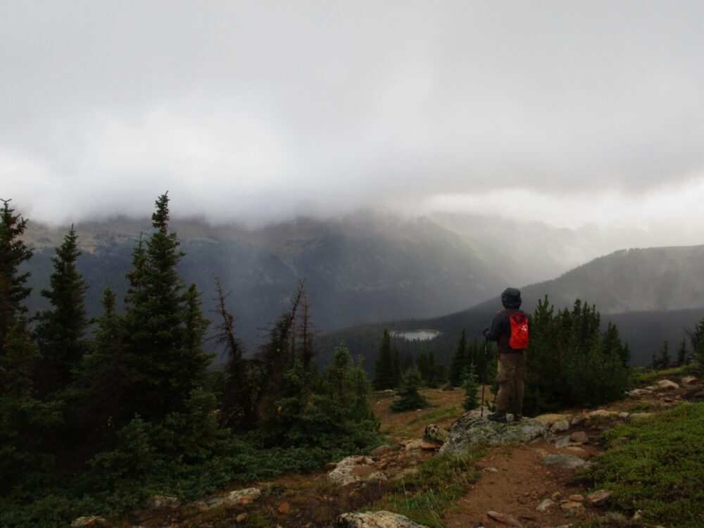 Hiking into the clouds in Cathedral Provincial Park