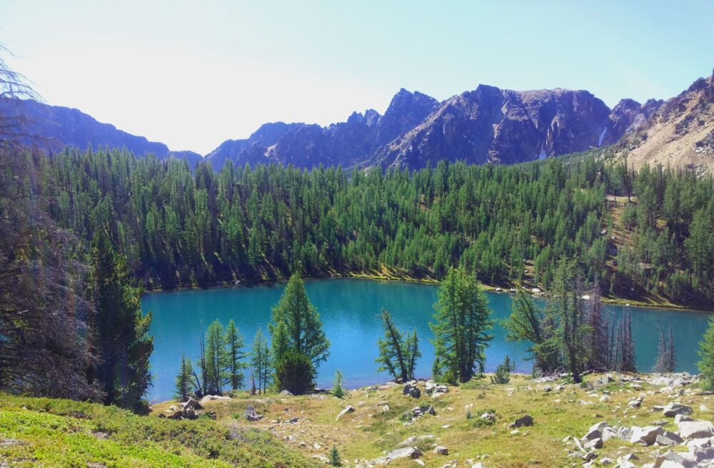Ladyslipper Lake, the Rim Trail, Cathedral Provincial Park