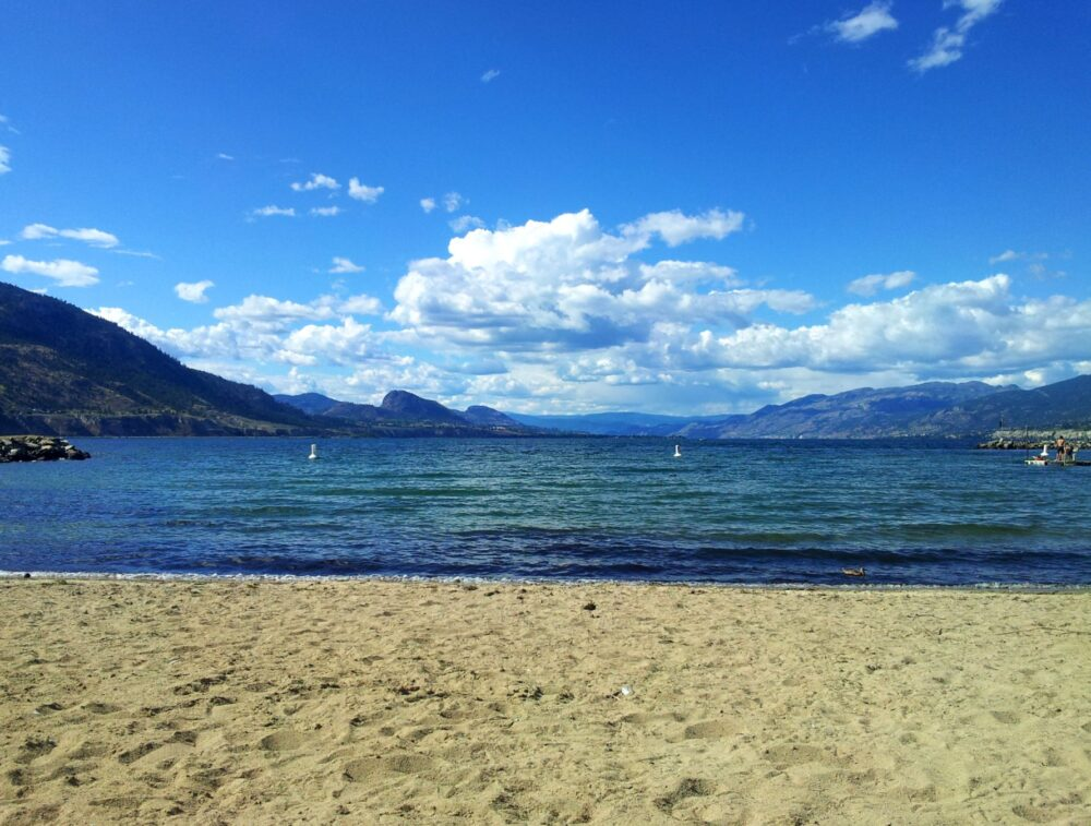 perfect weekend in penticton beach view