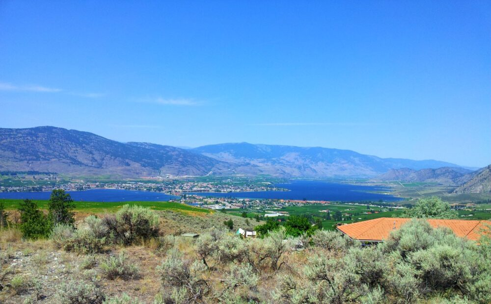 Osoyoos and hill views from Anarchist Mountain, British Columbia