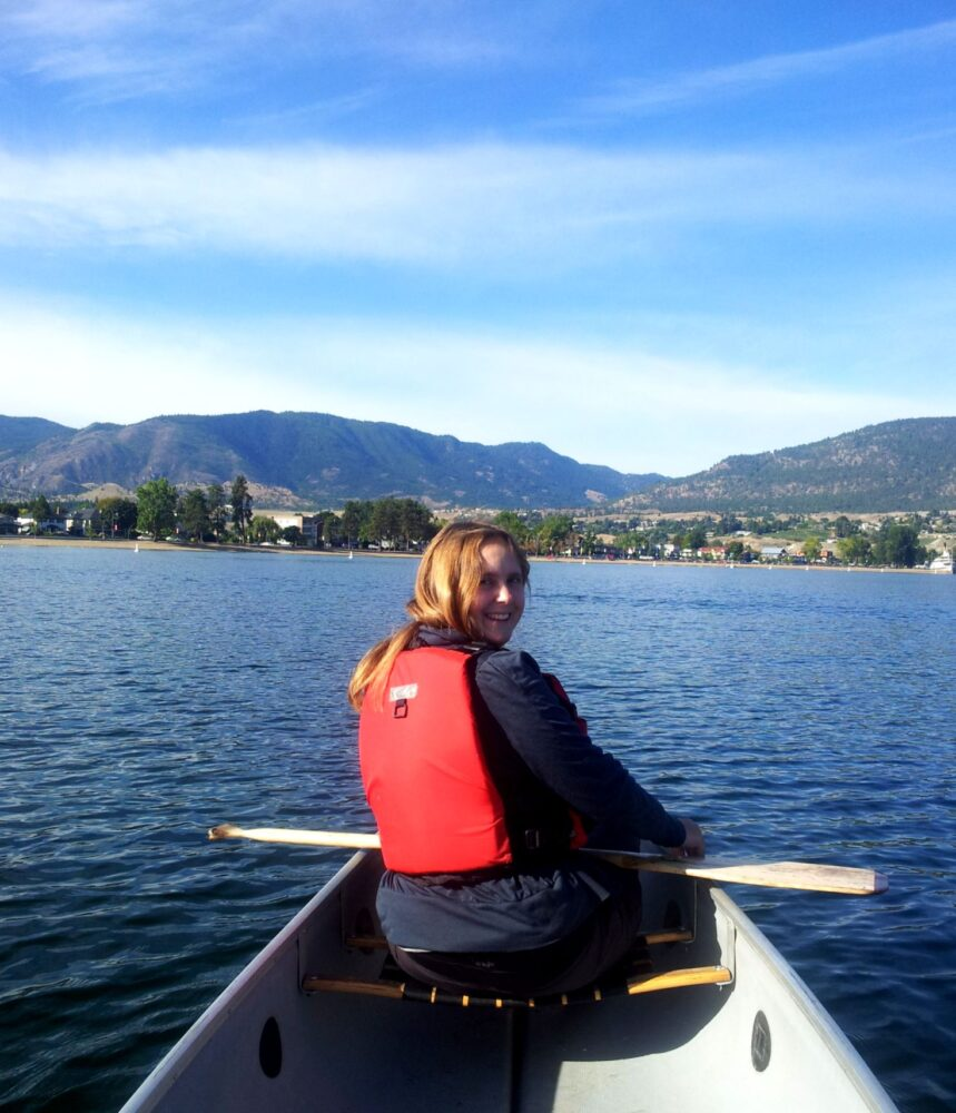 paddling okanagan lake canoe