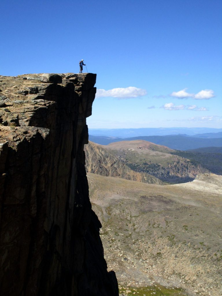 top of smokey the bear rim trail