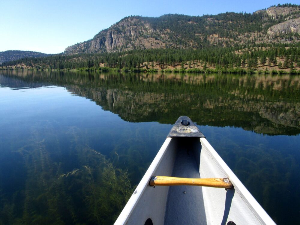 Canoe at Vaseux Lake- A Southern Okanagan gem