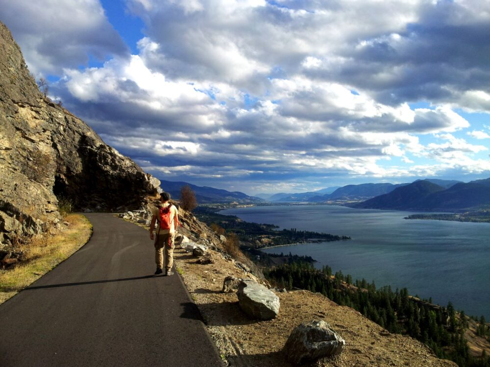 walking the kvr penticton tunnel