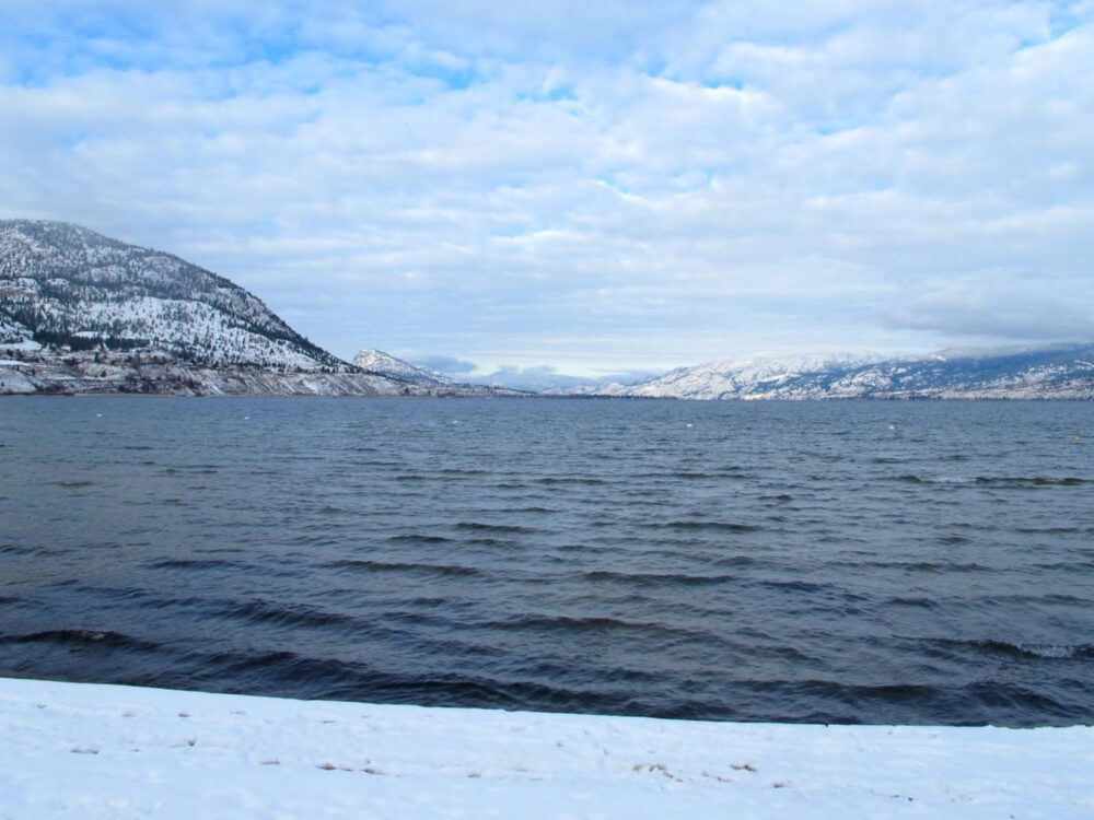 Okanagan Lake Penticton Winter 2015-6
