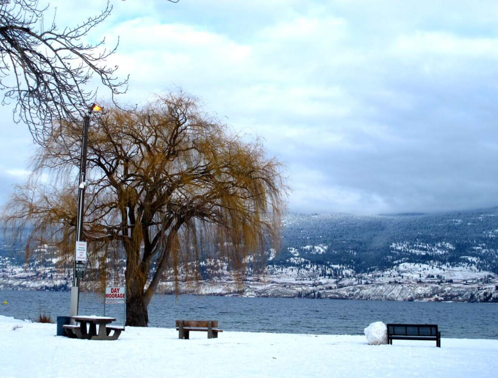 Okanagan Lake Penticton winter 2015