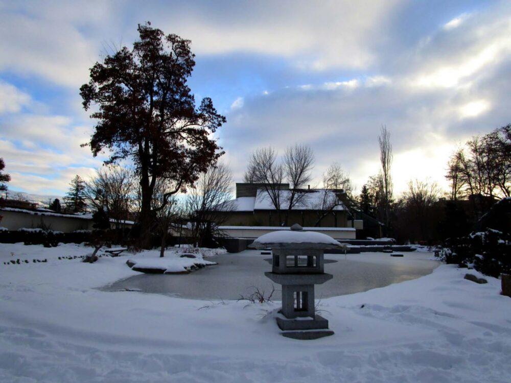 Penticton Japanese garden Winter 2015-16