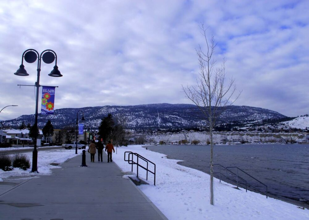 Penticton Okanagan Lakefront Winter