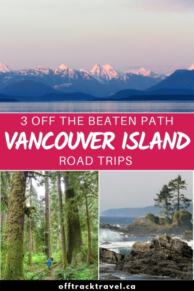 Canada's Vancouver Island is the ideal place for a road trip. Huge lakes, lush rainforest, jagged mountain peaks and pristine sandy beaches that stretch for days. But so many visitors only see a very small section of it - Victoria and Tofino. Check out these three road trip itineraries that will take you off the beaten track! offtracktravel.ca