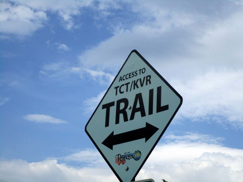KVR trail sign, Penticton