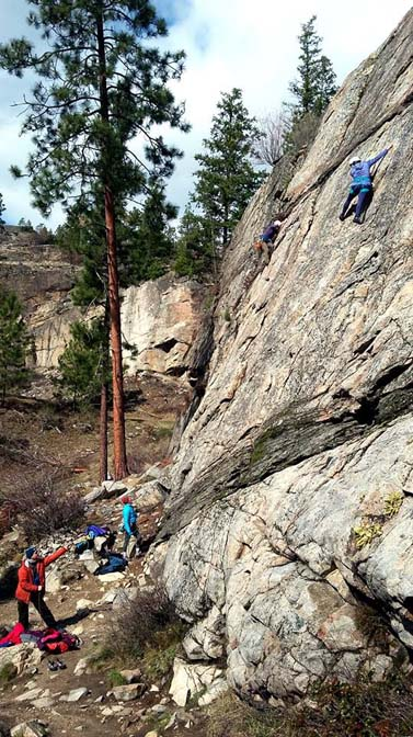 penticton climbing at skaha bluffs