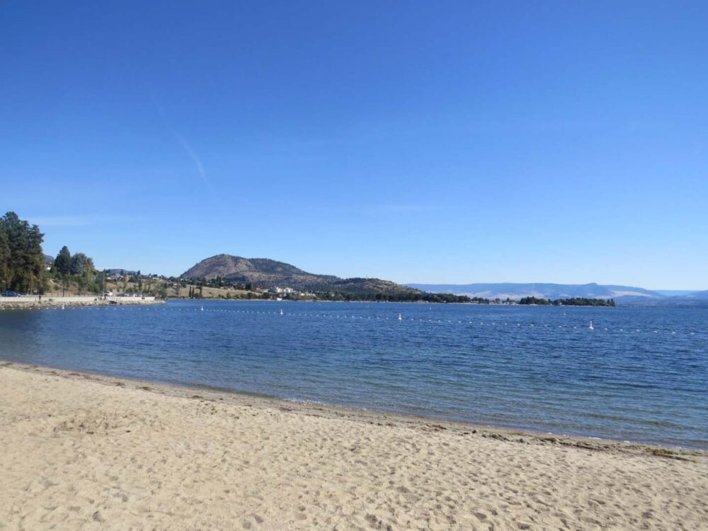 Beach views in West Kelowna, BC