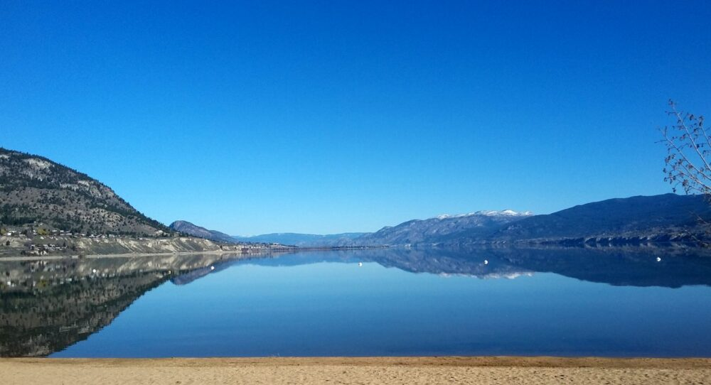 View of Okanagan Lake from Penticton beach