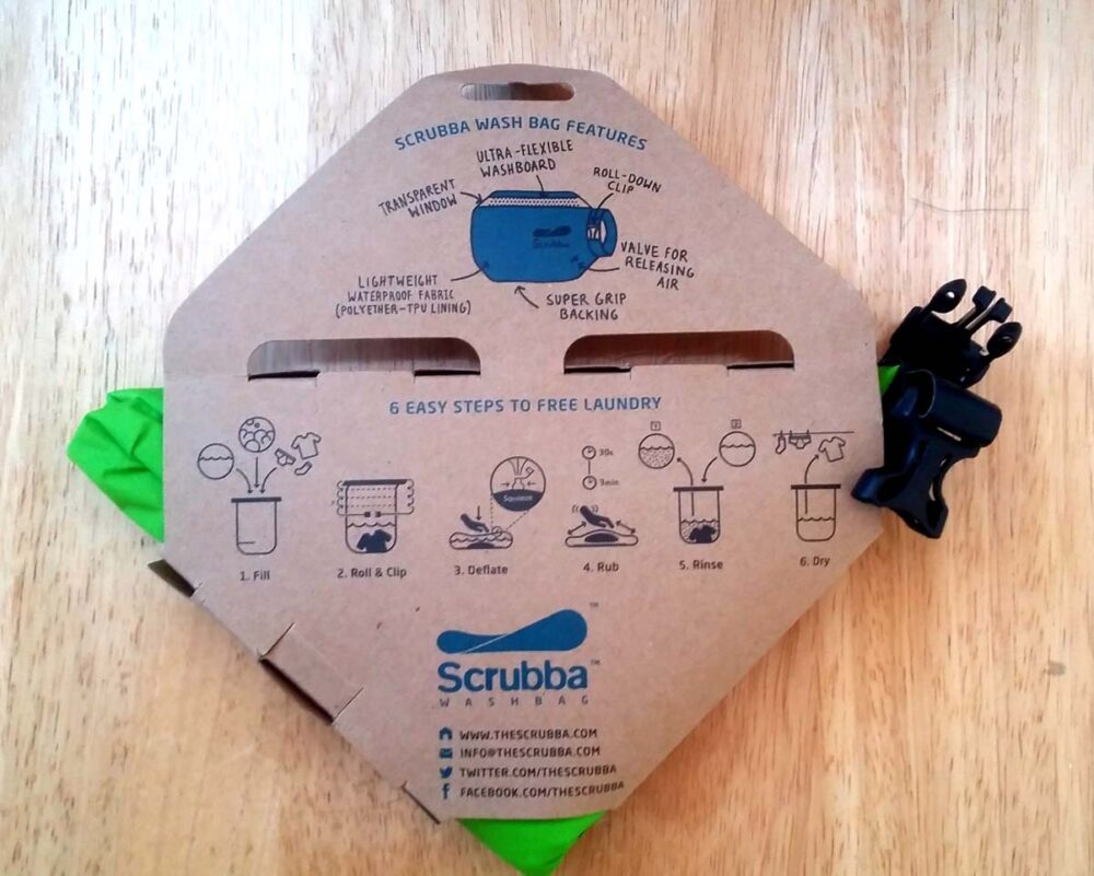 scrubba washbag in packaging
