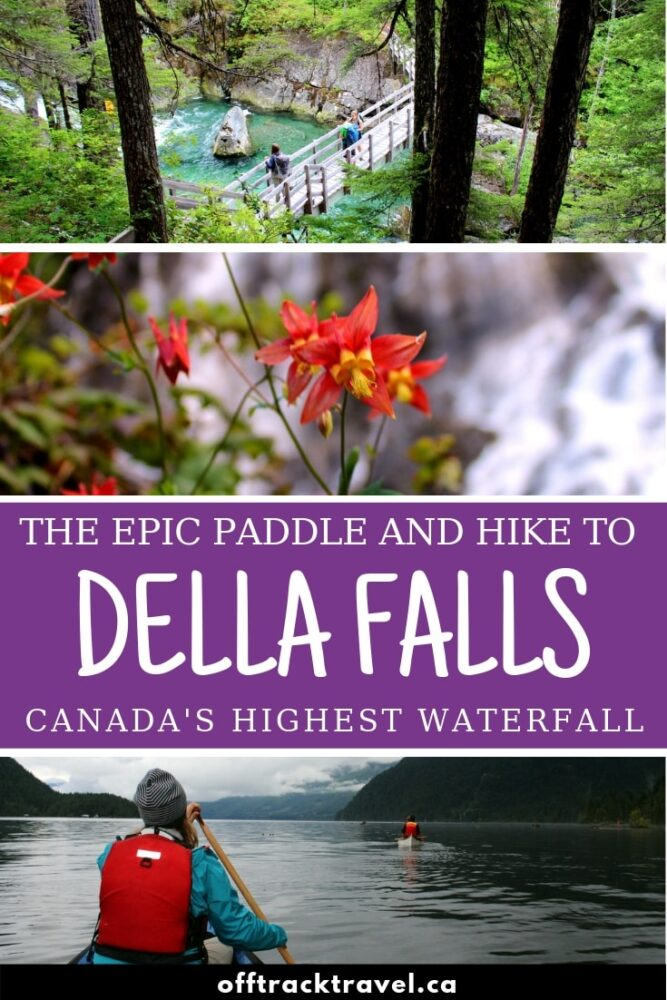Hidden in the deep green valleys of Vancouver Island is Della Falls, Canada's highest waterfall only accessible via an epic 80km adventure! Read about our experience and follow the guide to see Della Falls with your own eyes! offtracktravel.ca