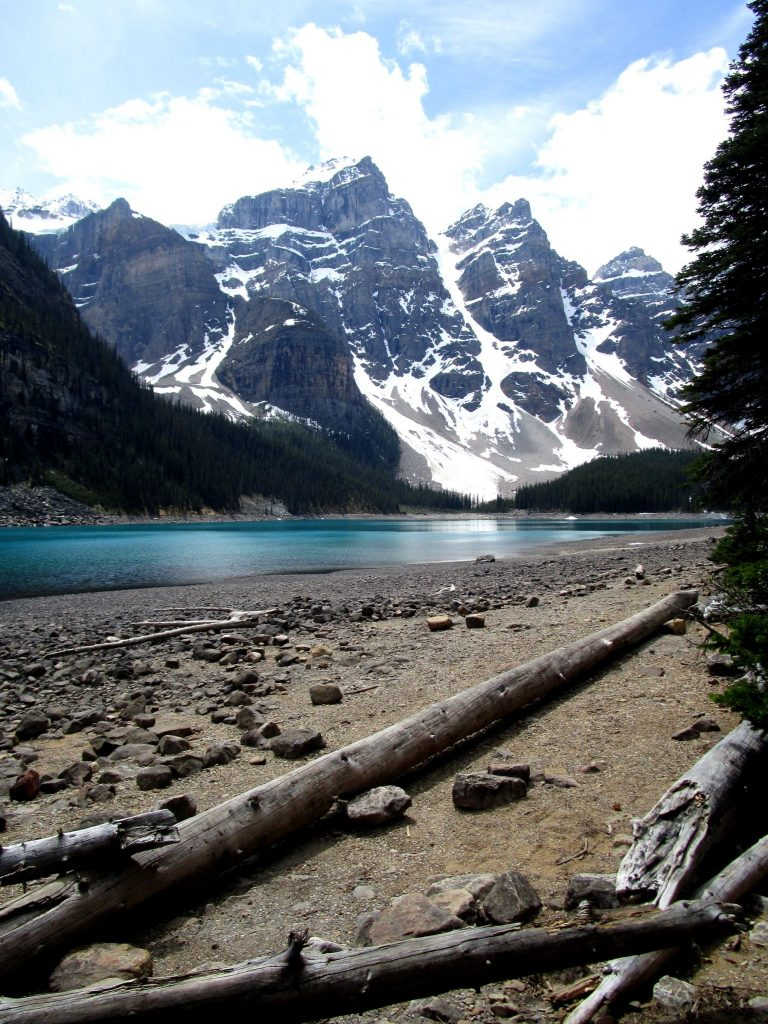 Views of Moraine Lake in Banff National Park, Canada