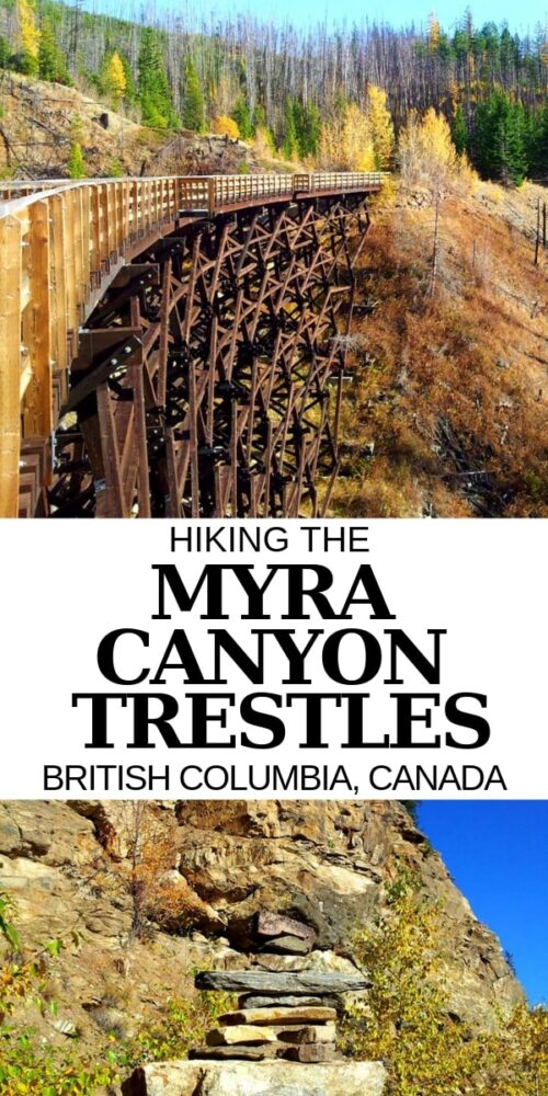Hiking the Myra Canyon trestles is a must do experience while in the Kelowna area! Here's more about our hiking experience + everything you need to know about hiking the Myra Canyon Trestles in the Okanagan Valley, British Columbia