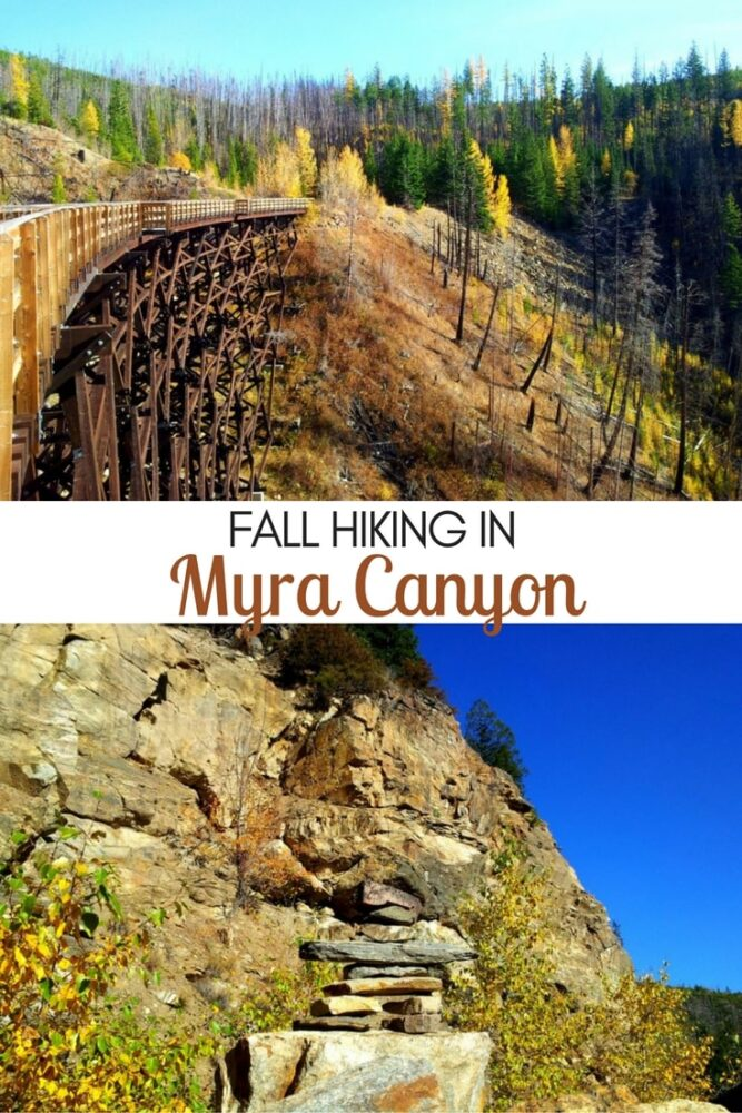 Hiking the Myra Canyon trestles is a must do experience while in the Kelowna area! Read more about our autumn hiking experience on the Kettle Valley Rail Trail plus everything you need to know to do the same! offtracktravel.ca