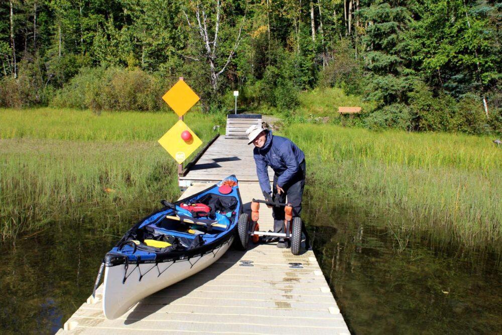 bowron lake end of canoe circuit