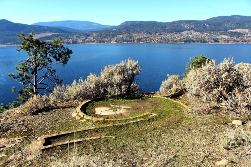 Old mini golf remains on Rattlesnake Island