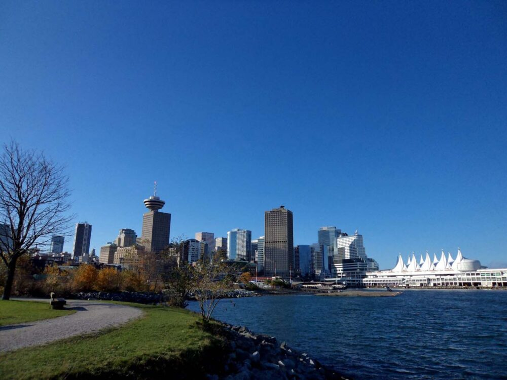 View of Downtown Vancouver - one of the most popular destinations for a working holiday in Canada