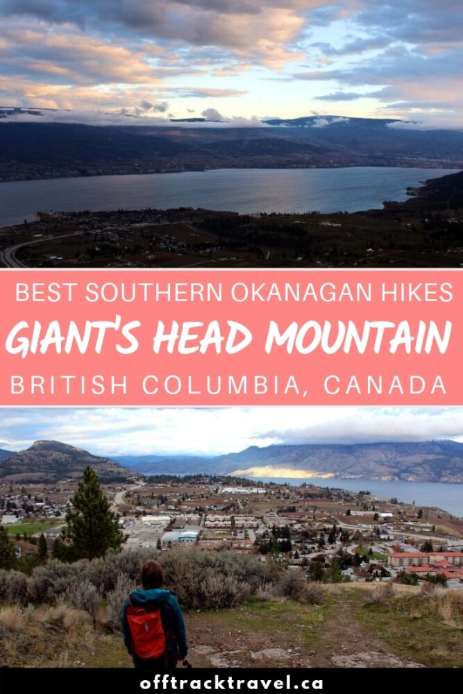 Giant's Head Mountain provides one of our favourite quick hikes (3.2km return) in the southern Okanagan region of British Columbia, Canada. When approaching from the southeast, this 850m extinct volcano does indeed look like the profile of a very large man looming over the nearby town of Summerland. Click here to read our hiking experience plus all the details you need to do this trail yourself! offtracktravel.ca
