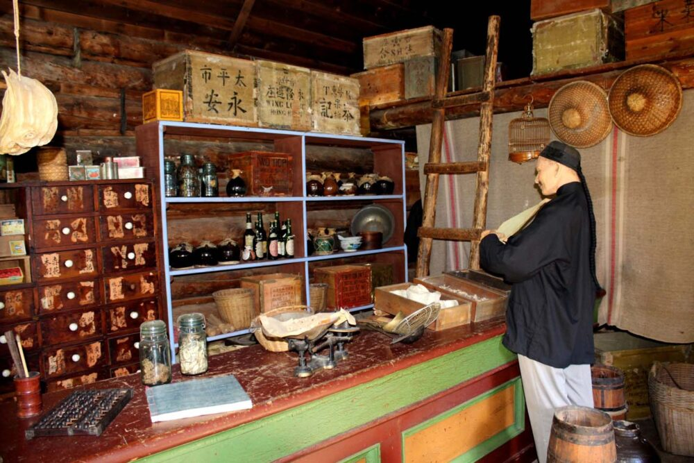 Chinese goods and furniture in Chinatown shop, Barkerville