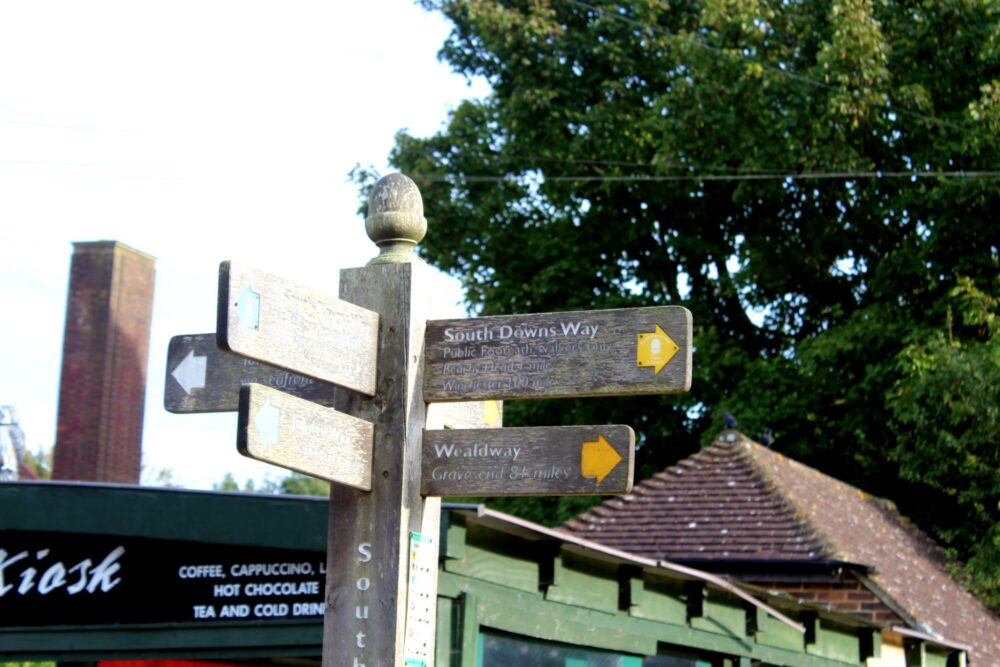 Walking the South Downs Way - final signpost