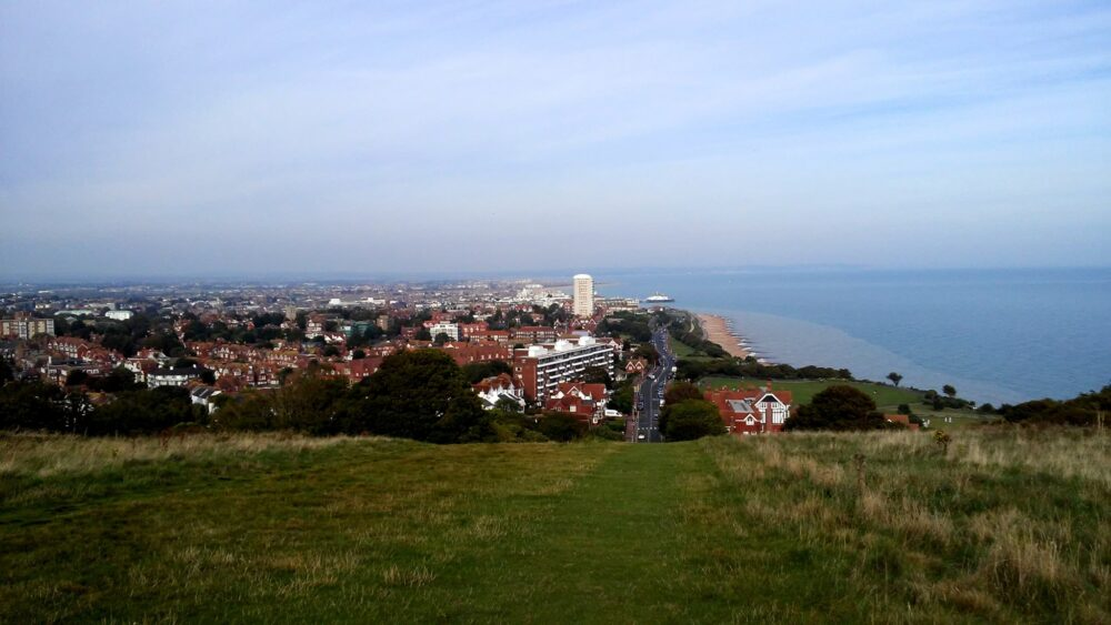 City of Eastbourne at the bottom of hill