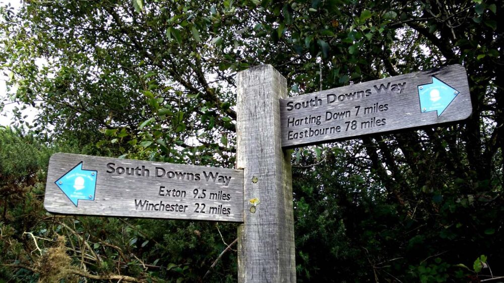 harting down exon south downs way signs