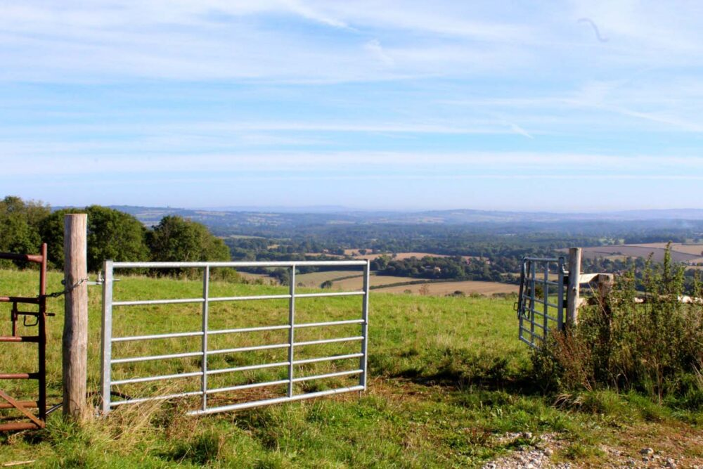Walking the South Downs Way - open gate