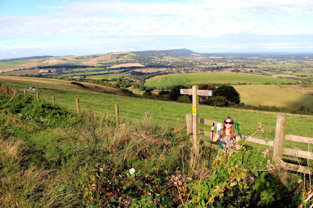Gemma on the bramber walk south down way