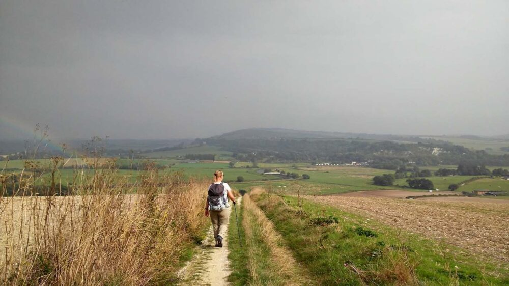 Walking the South Downs Way - Near Amberley