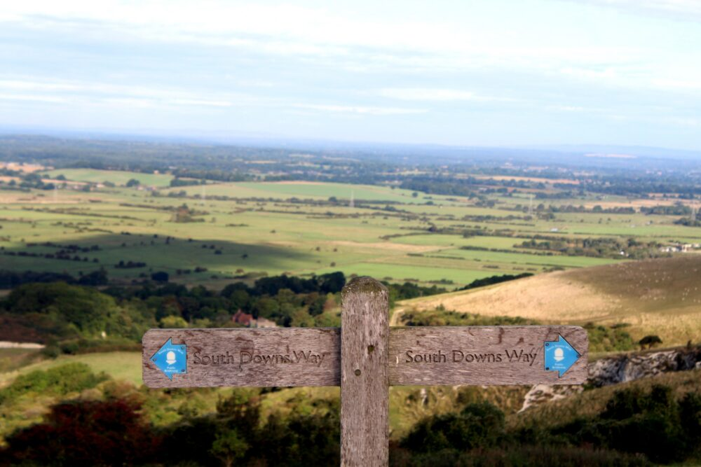 How to Walk the South Downs Way - South Downs Way Advice - signpost