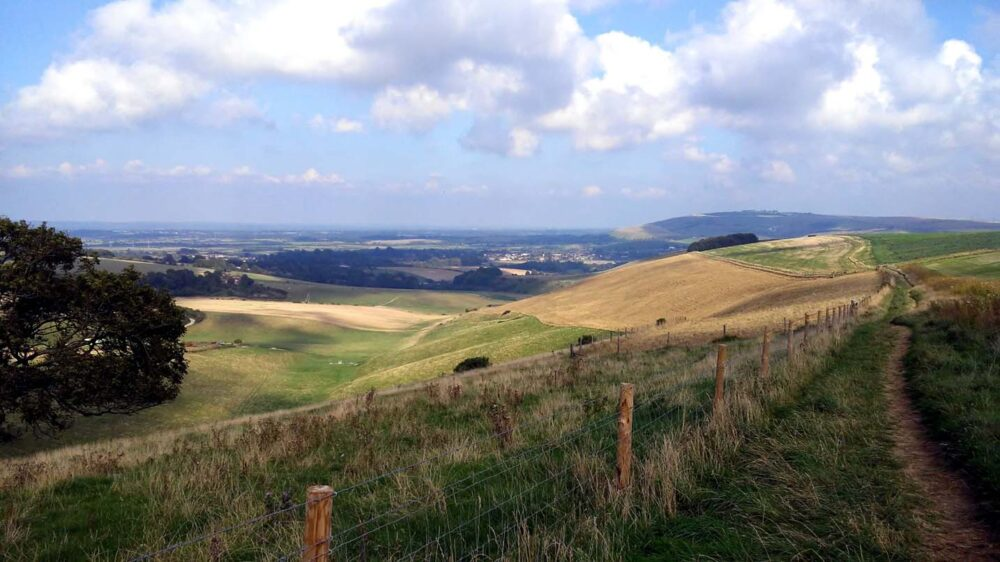walking the south downs way hampshire