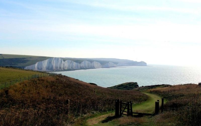Walking the South Downs Way Long Distance Path, UK