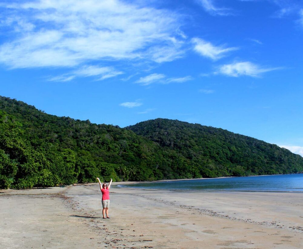 Gemma at cape tribulation beach daintree