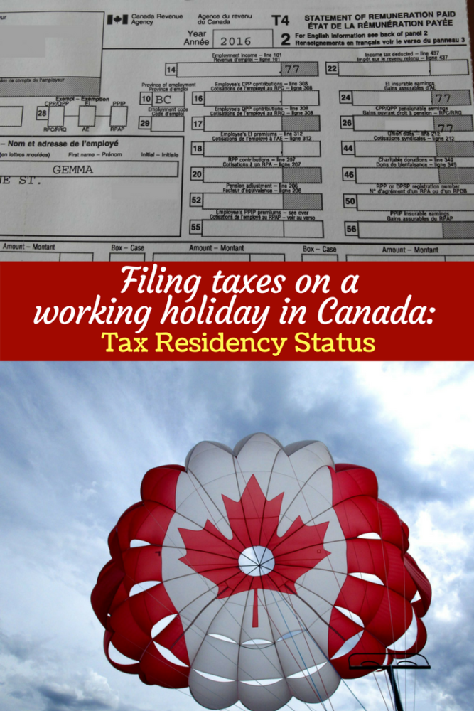 filing-taxes-on-a-working-holiday-in-canada-tax-residency-pinterest