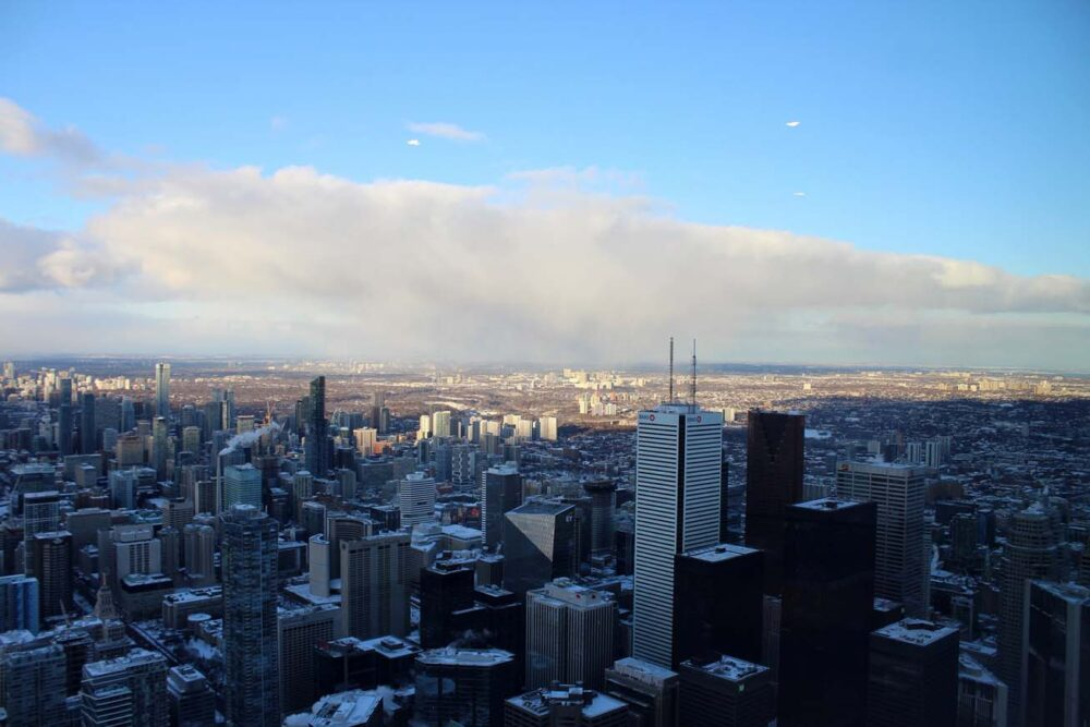 High rise buildings from CN Tower
