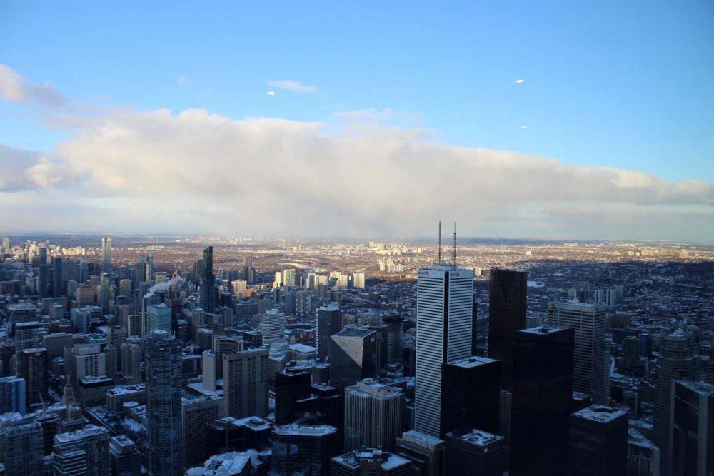 Toronto skyline from CN Tower