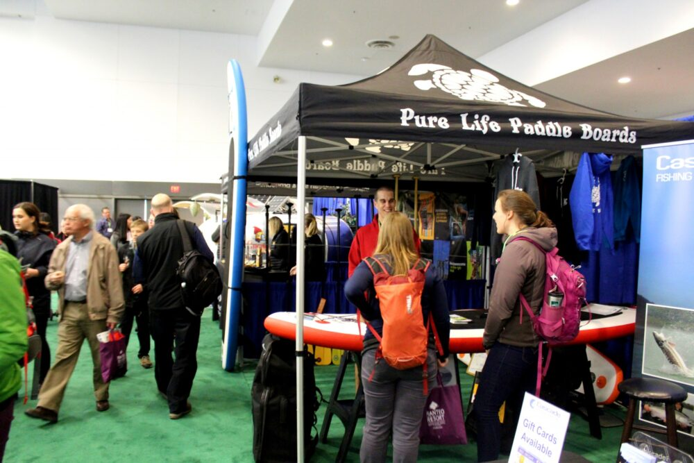 vancouver outdoor adventure and travel show pure life paddle boards
