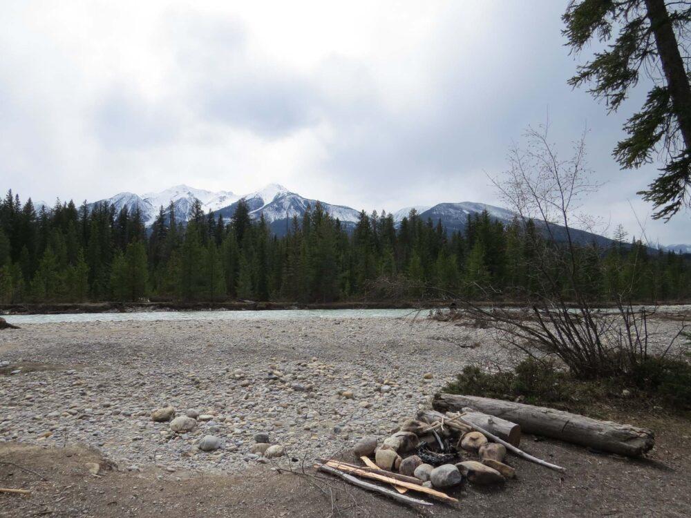Rec Site camping near Golden, British Columbia