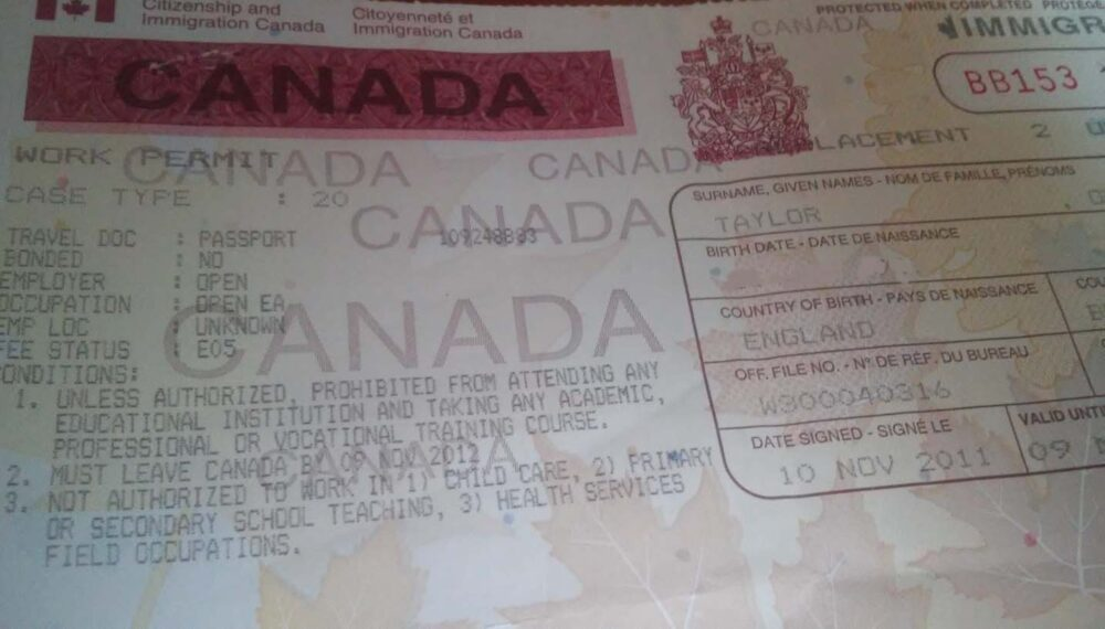 Canada Work Permit - Flagpoling process to activate