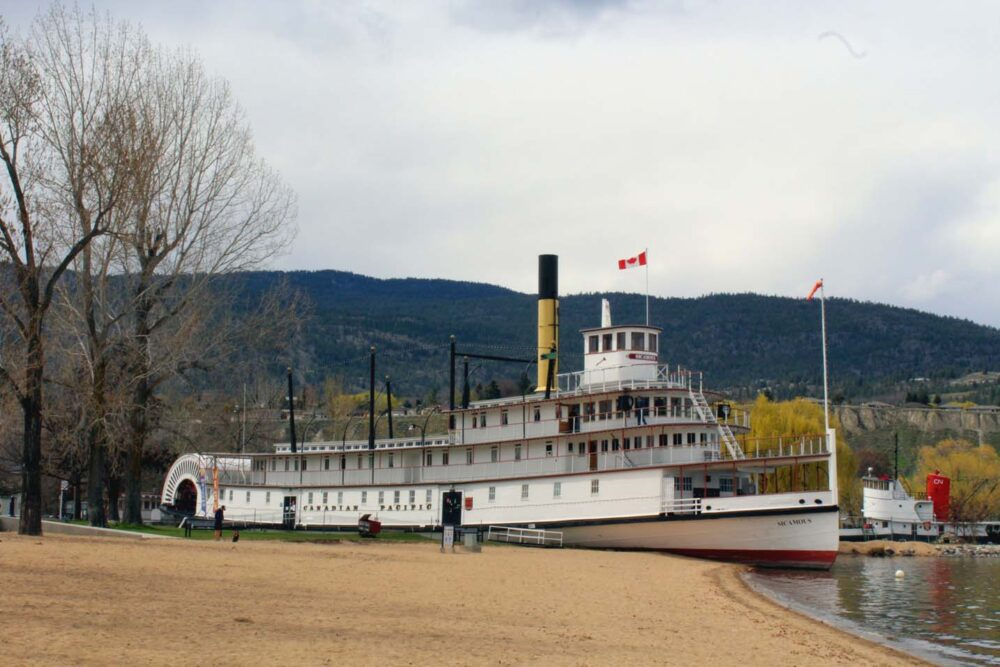 SS Sicamous on Penticton Okanagan Lake beach