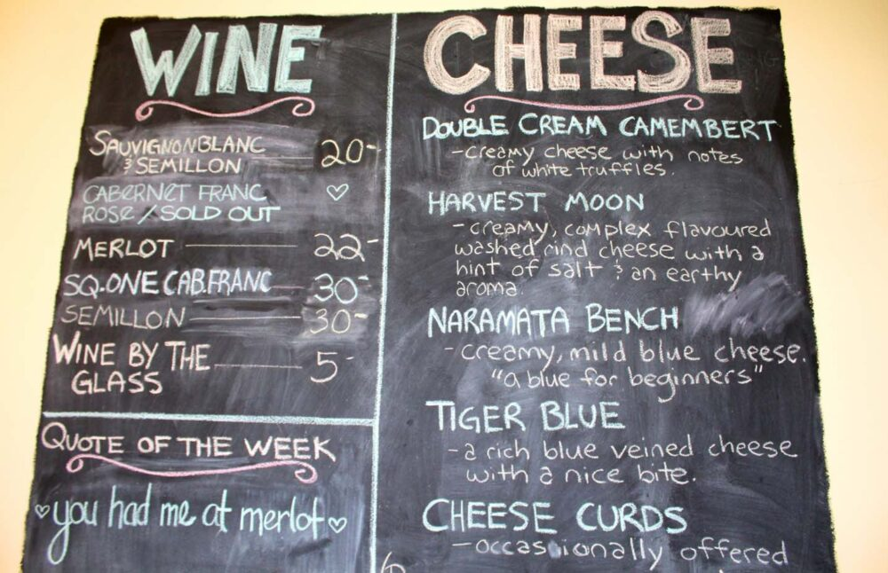 Popular Grove Cheese tastings - What To Do on a Rainy Day in Penticton