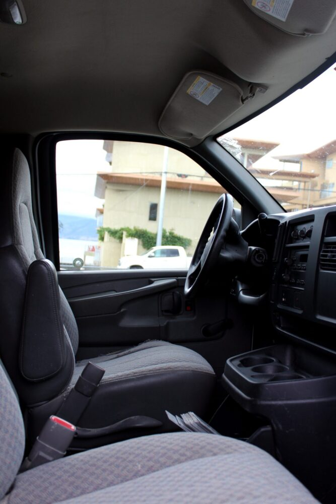 GMC Savana front driver side interior