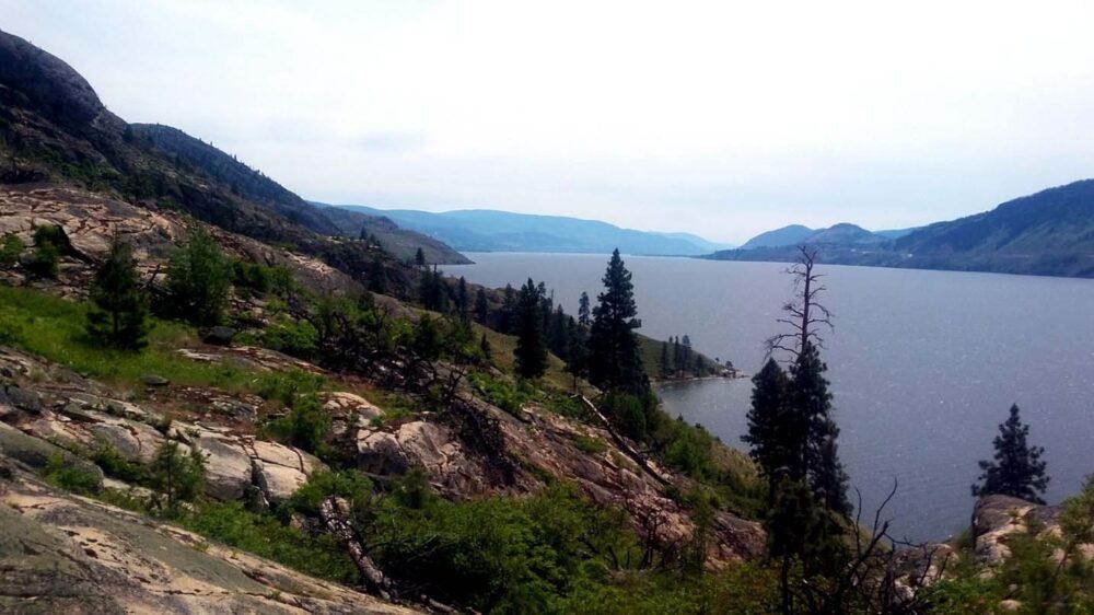 Okanagan Mountain Park view near Commando Bay