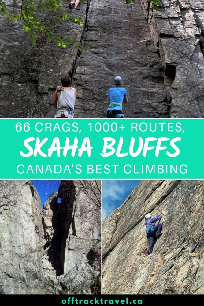 Skaha Bluffs Provincial Park is one of the best places to climb in Canada with over 1000 climbs found in three canyons. Complete climbing guide written by a Penticton local with recommended climbs and insider tips. offtracktravel.ca